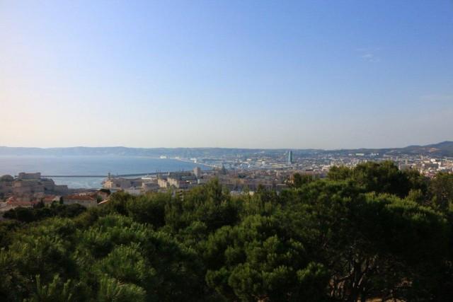 地中海文明博物館-マルセイユ遠望