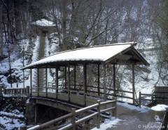真田家ゆかりの里、信州上田の屋根付橋
