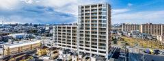ドローン空撮による建築物のパノラマ撮影